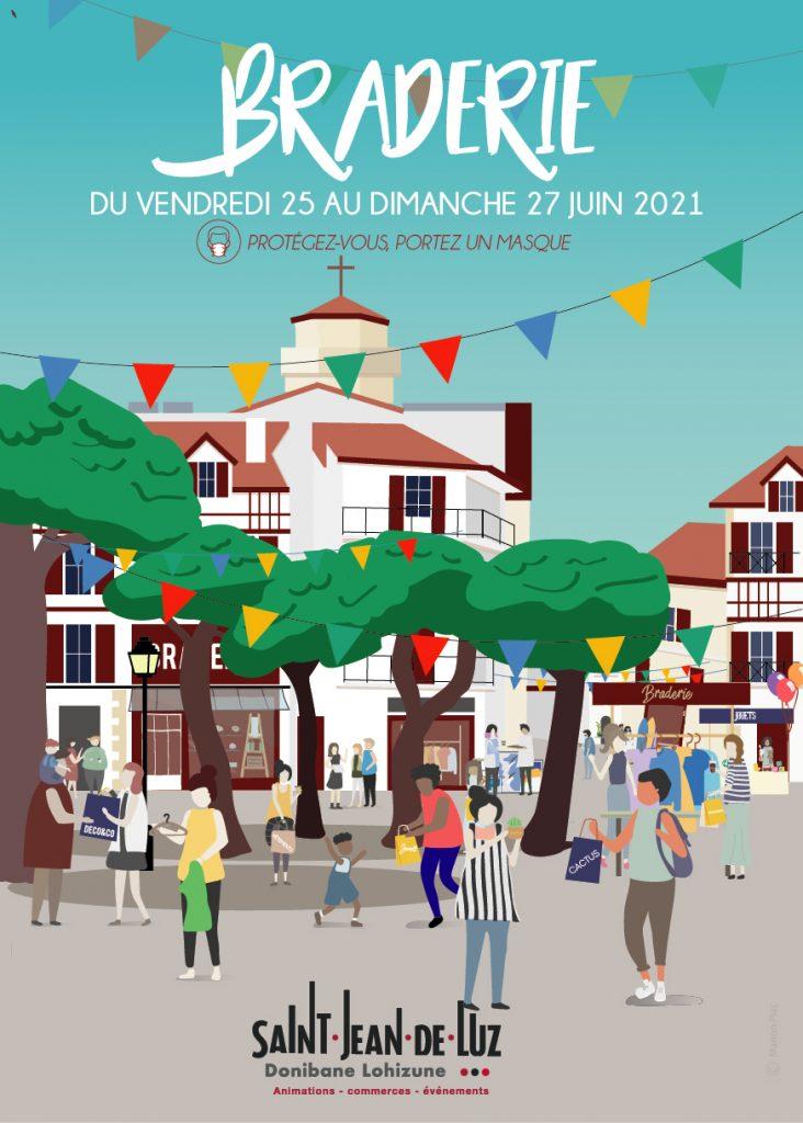 Affiche Braderie Stjean A3 Webprint Juin